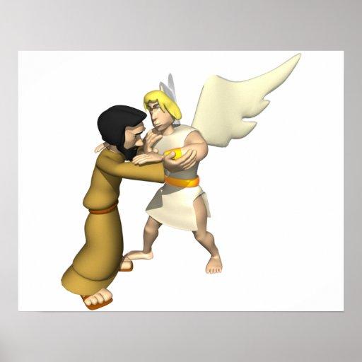 Man vs Angel Posters