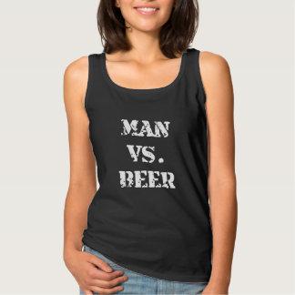 Man Vs Beer Basic Tank Top