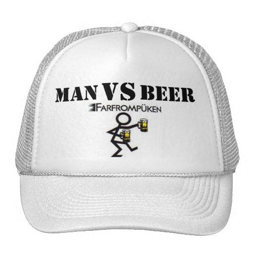 MAN VS BEER HATS