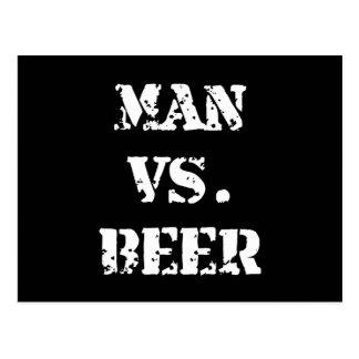 Man Vs Beer Postcard