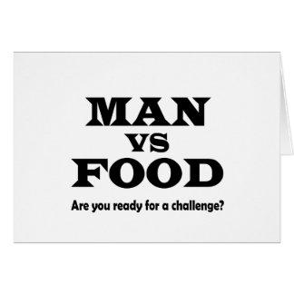 man vs food greeting card