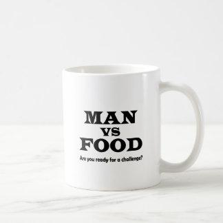 man vs food basic white mug