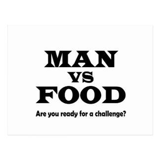 man vs food postcard