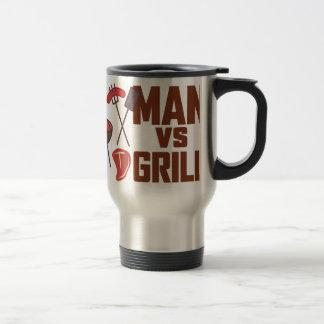 Man Vs Grill Stainless Steel Travel Mug