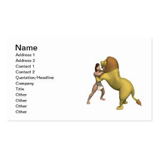 Man Vs Lion Business Card Template