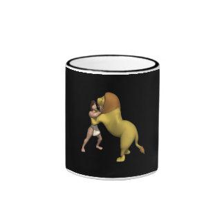 Man Vs Lion Coffee Mugs