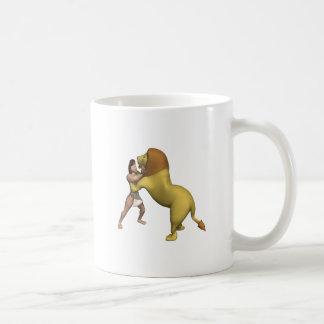 Man Vs Lion Coffee Mug