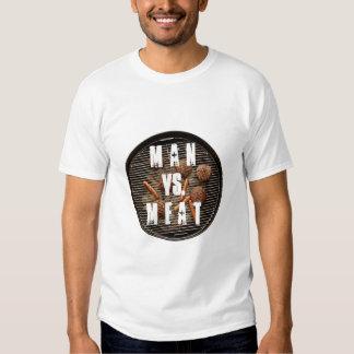 Man vs. Meat BBQ T Shirts