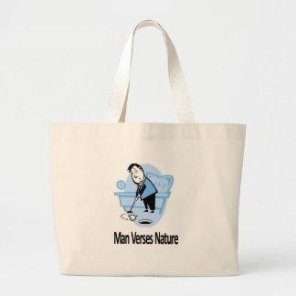 Man vs Nature Collection Jumbo Tote Bag