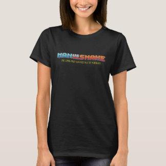 MAN VS SNAKE Women's Black T-shirt