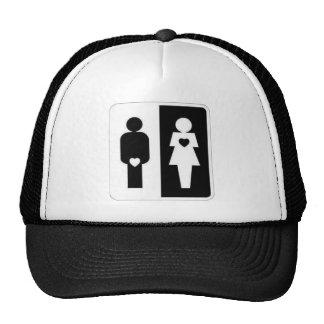 man vs woman trucker hat