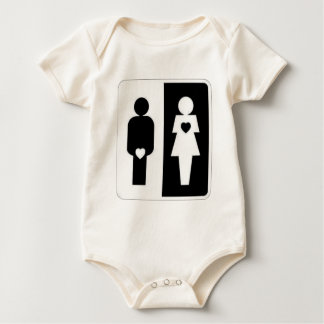 man vs woman baby creeper