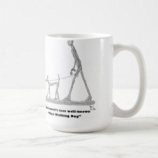 Man Walking Dog Coffee Mug