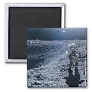 Man Walking on Moon Magnet