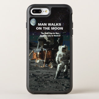Man Walks on the Moon Astronaut and Earth OtterBox Symmetry iPhone 7 Plus Case