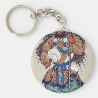 Man wearing ceremonial costume key chain