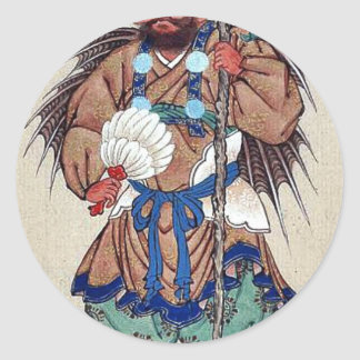 Man wearing ceremonial costume stickers