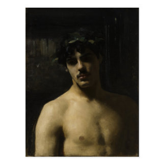 Man Wearing Laurels Postcard