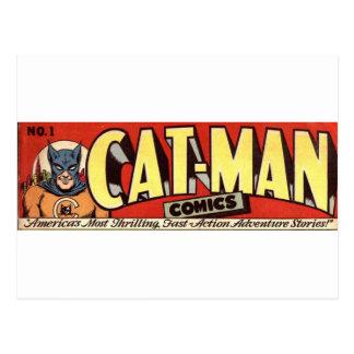 Man who Fancies Cats Banner Postcard
