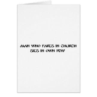 Man who farts in church card