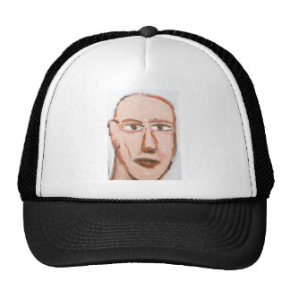 Man with a scar on his face (Neo-Expressionism) Cap