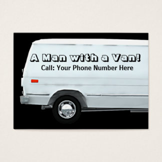 Man with a van business / profile cards