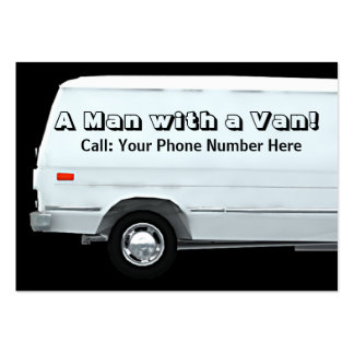 Man with a van business / profile cards pack of chubby business cards