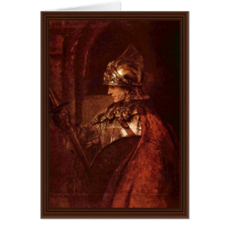 Man With Arms (Alexander The Great) By Rembrandt Card