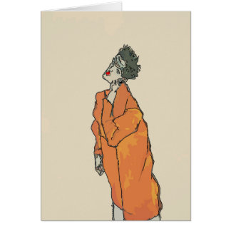 Man With Cell Phone Abstract Matisse Style, Card