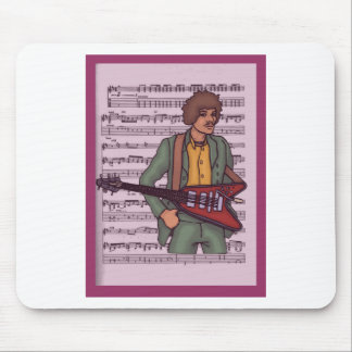 Man with Electric Guitar ~ Rock Music Mousepad