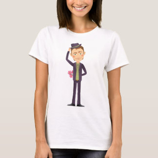 Man With Flowers Womens T-Shirt