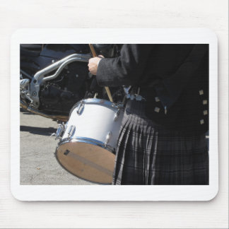 Man with kilt playing on drums mouse pad