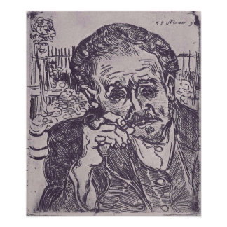 Man with pipe  by Vincent van Gogh Print