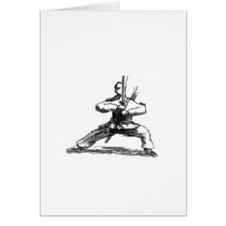 Man With Sword Card