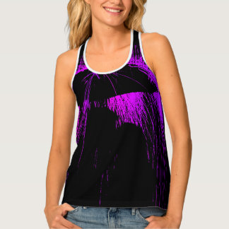 MAN WOMAN IN PURPLE RAIN SINGLET