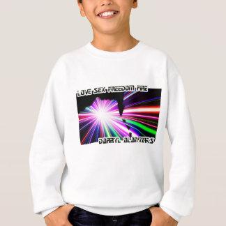Man Woman Lightshow Silhouette Sweatshirt