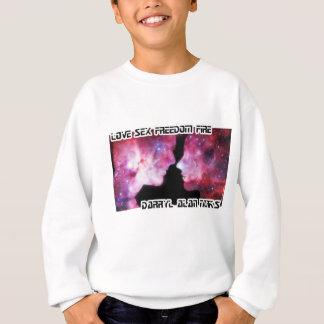 Man Woman Space Silhouette Pink Sweatshirt