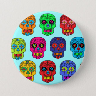 Man & Woman Sugar Skulls 7.5 Cm Round Badge