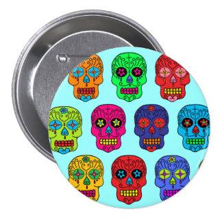 Man & Woman Sugar Skulls 7.5 Cm Round Badge