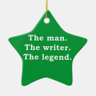 Man - Writer - Legend Ceramic Star Decoration