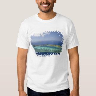 Mana Island and coral reef, Mamanuca Islands T Shirt