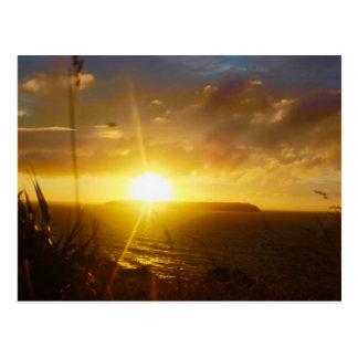 Mana Island Sunset postcard