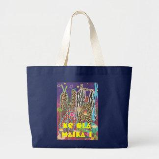 MaNa world Ke ola Maika ` i Large Tote Bag