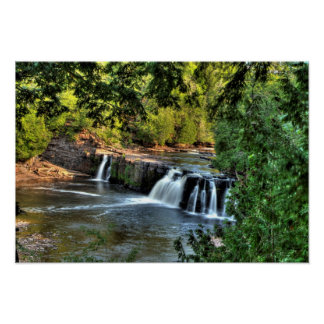 Manabezho Falls, Michigan. Poster