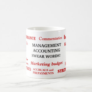Management Accounting Swear Words! Annoying Joke Coffee Mug