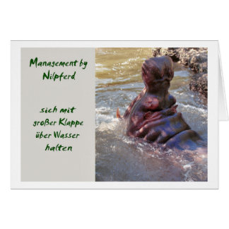 Management by Nilpferd Greeting Card