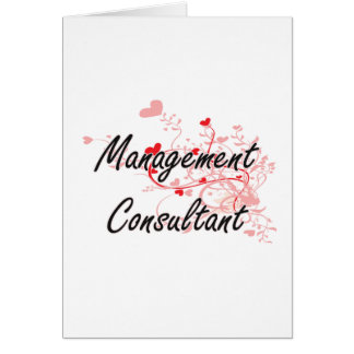 Management Consultant Artistic Job Design with Hea Greeting Card