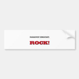 Management Consultants Rock Bumper Sticker