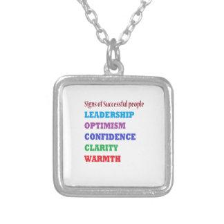Management Quotes Wisdom Words about Leadership Square Pendant Necklace
