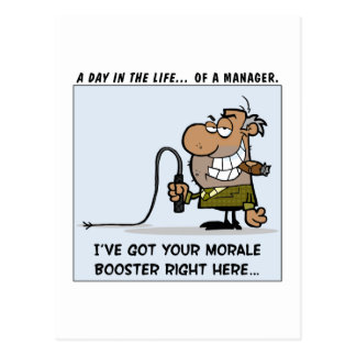 Management Tools for Boosting Employee Morale Postcard